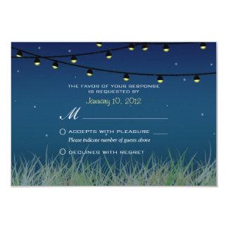 Het hangen de Nacht van Lichten onder de Sterren 8,9x12,7 Uitnodiging Kaart