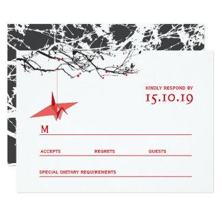 Het hangen het Huwelijk RSVP van de Boom van de 8,9x12,7 Uitnodiging Kaart