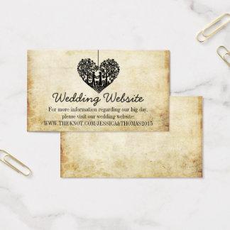 Het hangen Website van het Huwelijk van de Boom Visitekaartjes