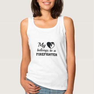Het hart behoort Brandbestrijder Tanktop
