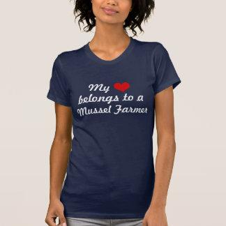Het hart behoort tot een Landbouwer van de Mossel T Shirt