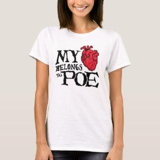 Het hart behoort tot Poe de T-shirt van Vrouwen