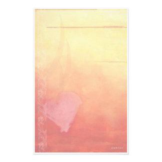 Het hart-Briefpapier van de zonsondergang Gpersonaliseerd Briefpapier