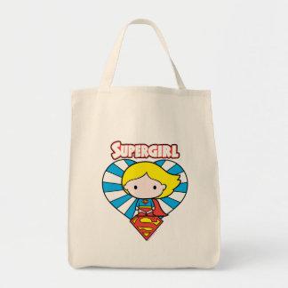 Het Hart en het Logo van Supergirl Starburst van Boodschappen Draagtas
