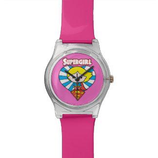 Het Hart en het Logo van Supergirl Starburst van Horloge