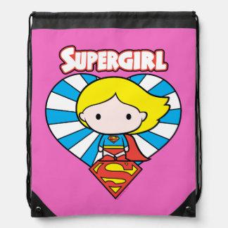 Het Hart en het Logo van Supergirl Starburst van Trekkoord Rugzakje