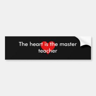Het hart is de hoofdsticker van de leraarsbumper bumpersticker