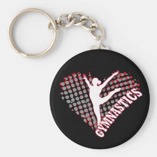 Het Hart Keychain van de gymnastiek Sleutelhanger