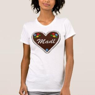 "Het Hart ""Madl "" van Oktoberfest T Shirt"