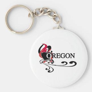 Het Hart Oregon van de brand Sleutelhanger