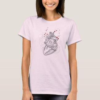 Het hart slaat op Roze overhemd T Shirt