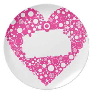 Het hart van bloemen melamine+bord