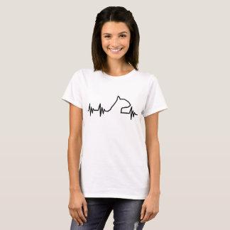 Het hart van bull terrier sloeg overhemd t shirt
