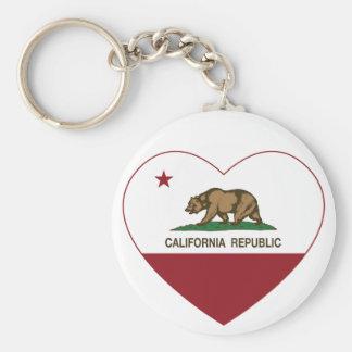 Het Hart van Californië van de Liefde van de Repub Sleutelhanger
