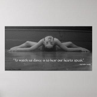 Het Hart van de dans spreekt Poster