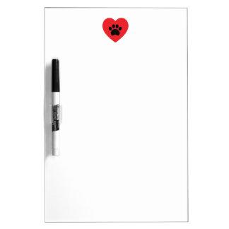 Het Hart van de Druk van de poot Whiteboard