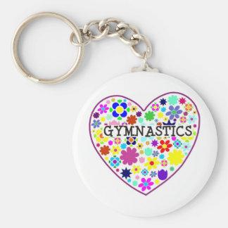 Het Hart van de gymnastiek met Bloemen Sleutelhanger