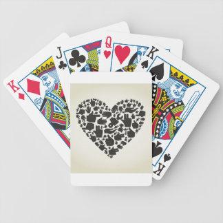 Het hart van de hand bicycle speelkaarten