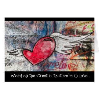 Het Hart van de Kunst van Graffiti houdt van u Briefkaarten 0