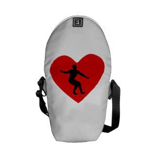 Het Hart van de kunstschaats Messenger Bag