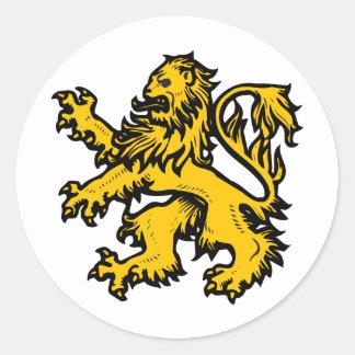 Het Hart van de leeuw Ronde Sticker
