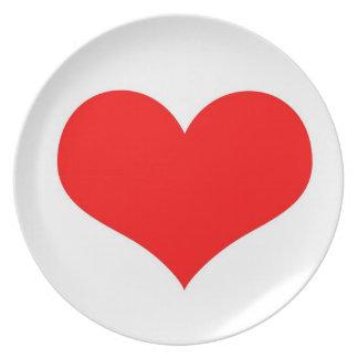 Het hart van de liefde melamine+bord