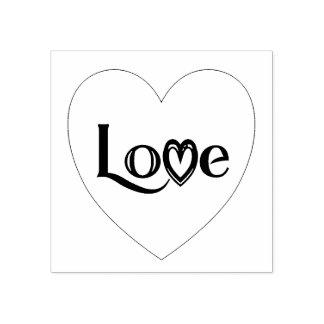 Het Hart van de liefde Rubberenstempel
