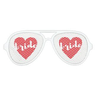 Het Hart van de Liefde van de bruid Aviator Zonnebril