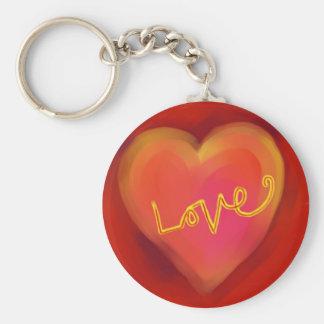 Het Hart van de Liefde van de Cirkel van de Sleutelhanger