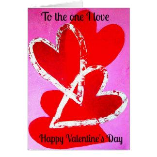 Het Hart van de Liefde van de Kaart van Valentijn