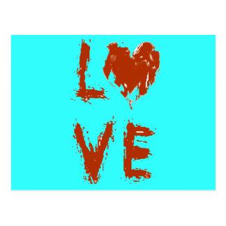 Het Hart van de Liefde van Grunge Briefkaart