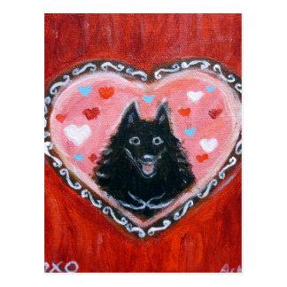 Het Hart van de Liefde van Schipperke Briefkaart
