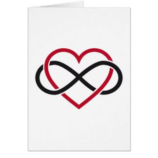Het hart van de oneindigheid, eeuwigdurende liefde kaart