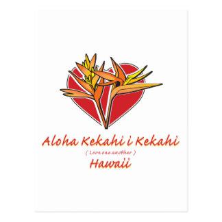 Het Hart van de Paradijsvogel van Hawaiil van Briefkaart
