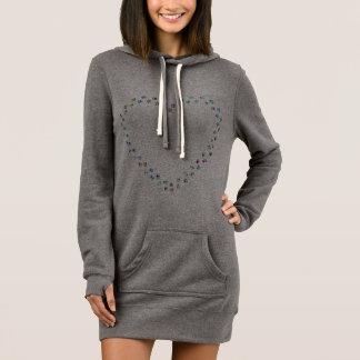 het hart van de pootdruk hoodie kleedt zich