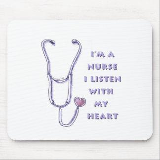 Het Hart van de verpleegster mousepad Muismat