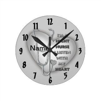 Het Hart van de Verpleegster van de nacht Ronde Klok Medium