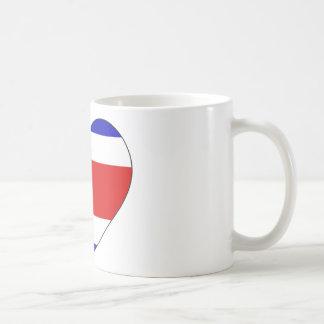 Het Hart van de Vlag van Costa Rica Koffiemok