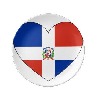 Het Hart van de Vlag van de Dominicaanse Republiek Porselein Bord