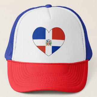 Het Hart van de Vlag van de Dominicaanse Republiek Trucker Pet