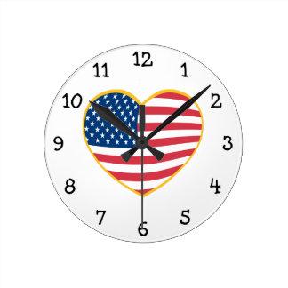 Het Hart van de Vlag van de V.S. Ronde Klok