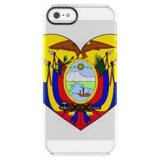 Het Hart van de Vlag van Ecuador Doorzichtig iPhone SE/5/5s Hoesje