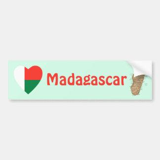 Het Hart van de Vlag van Madagascar + De Sticker