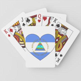Het Hart van de Vlag van Nicaragua Pokerkaarten