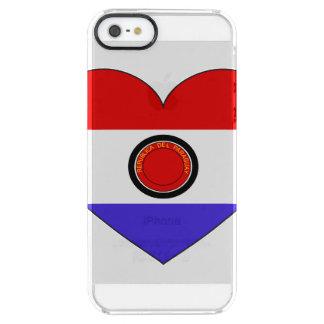 Het Hart van de Vlag van Paraguay Doorzichtig iPhone SE/5/5s Hoesje