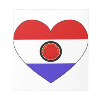 Het Hart van de Vlag van Paraguay Notitieblok