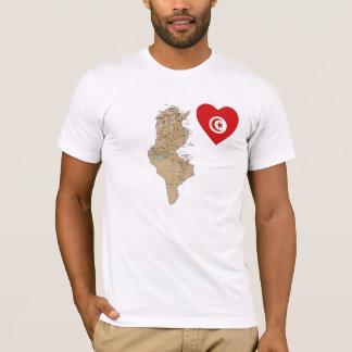 Het Hart van de Vlag van Tunesië en de T-shirt van