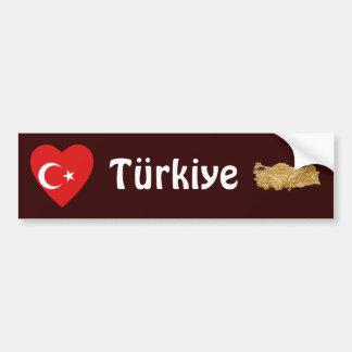 Het Hart van de Vlag van Turkije + De Sticker van