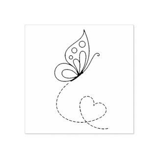 Het Hart van de vlinder - kleur me Rubberstempel
