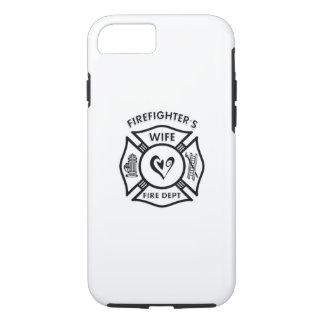 Het Hart van de Vrouw van brandbestrijders iPhone 8/7 Hoesje